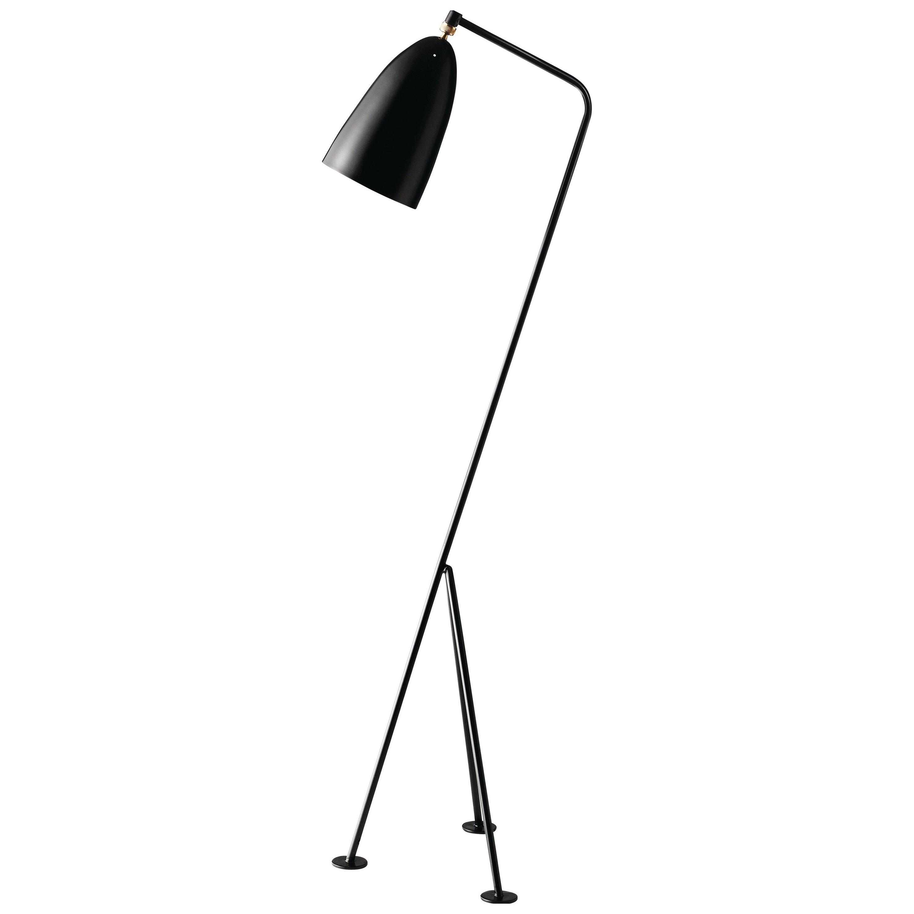 Greta Magnusson Grossman 'Grasshopper' Floor Lamp in Black