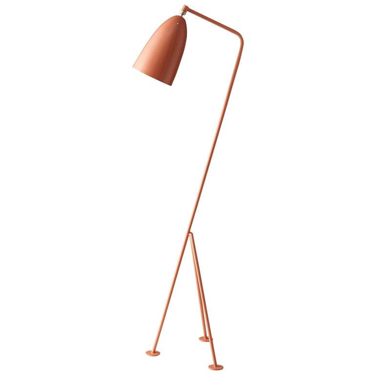 Greta Magnusson Grossman 'Grasshopper' Floor Lamp in Red For Sale