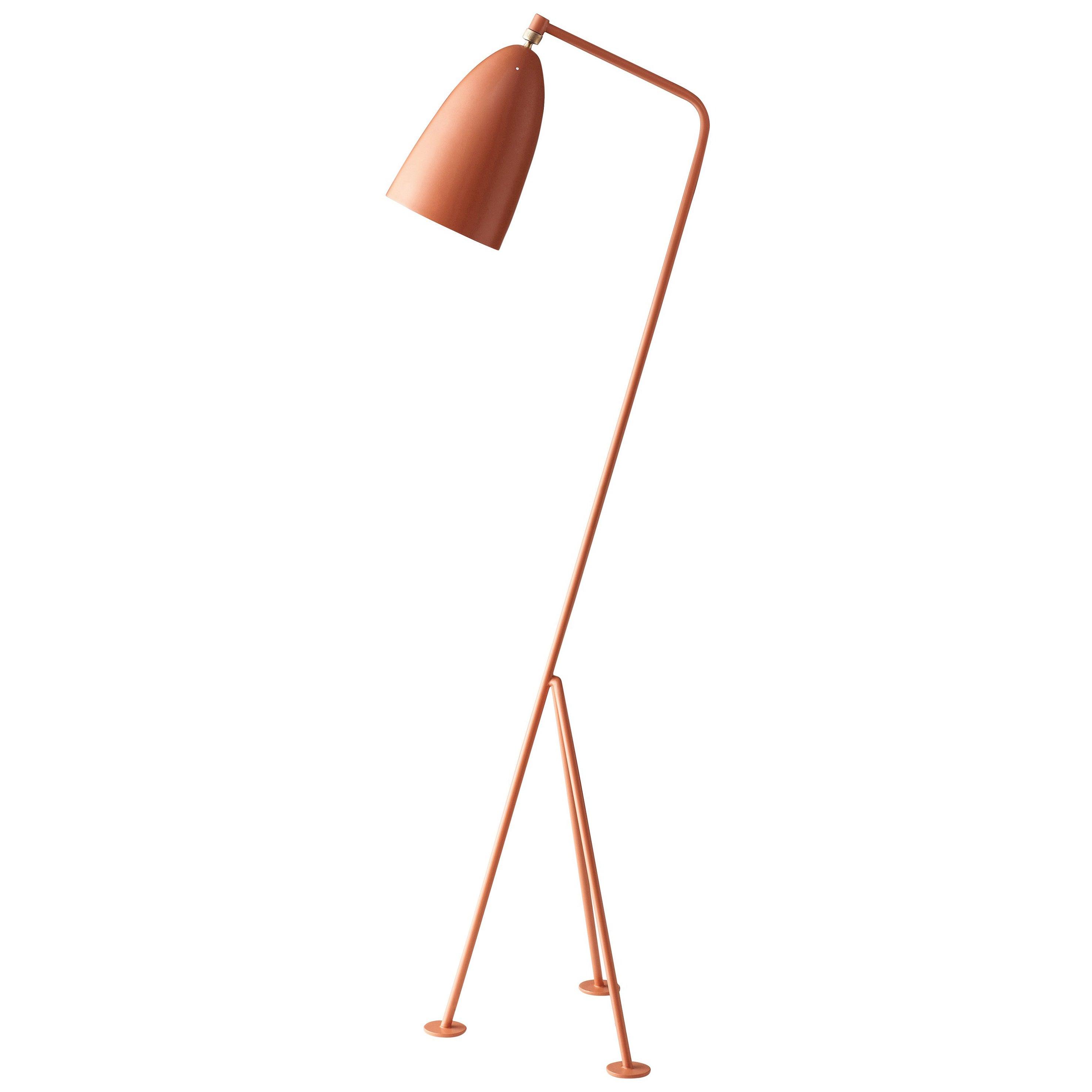 Greta Magnusson Grossman 'Grasshopper' Floor Lamp in Red