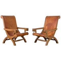 Clara Porset Butaque Chairs Attributed to Clara Porset, México, 1940s