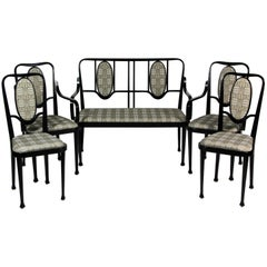 Art Nouveau Style Seating Group by Thonet, Vienna circa 1980