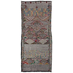 Midcentury Vintage Moroccan Kilim Rug