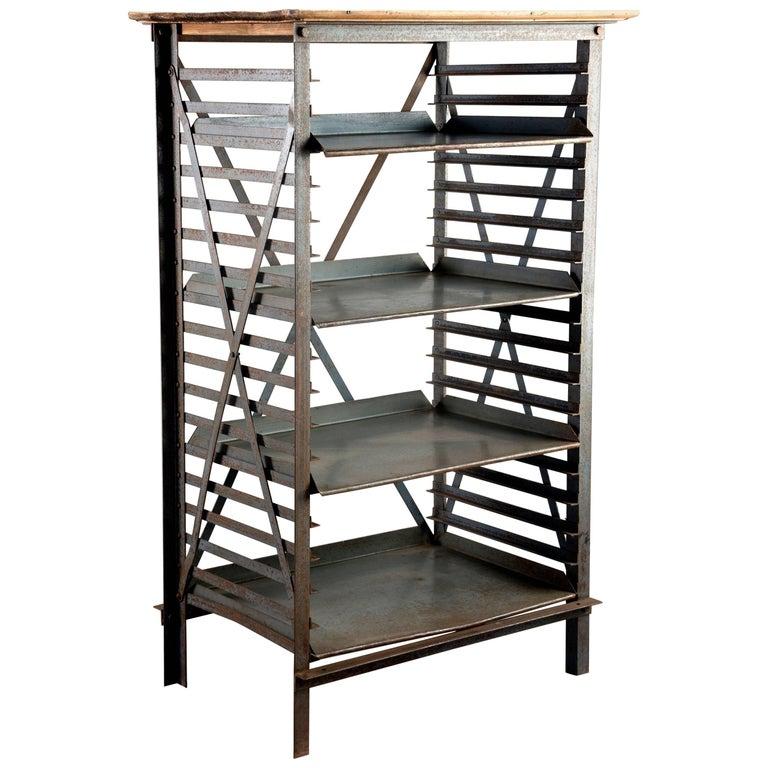 Blue Metal Adjule Shelf Unit For