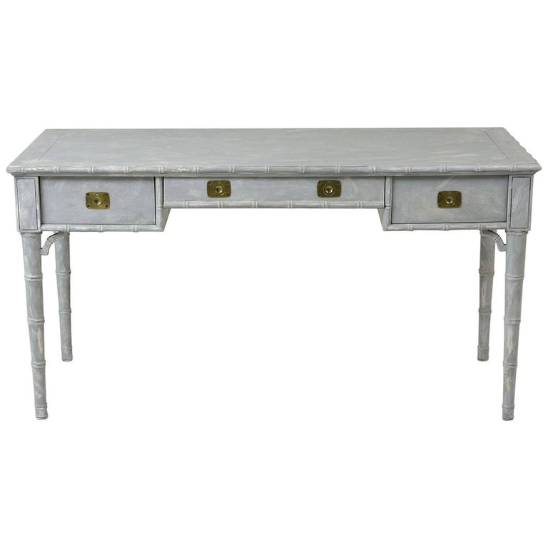 Faux Painted Bamboo Desk