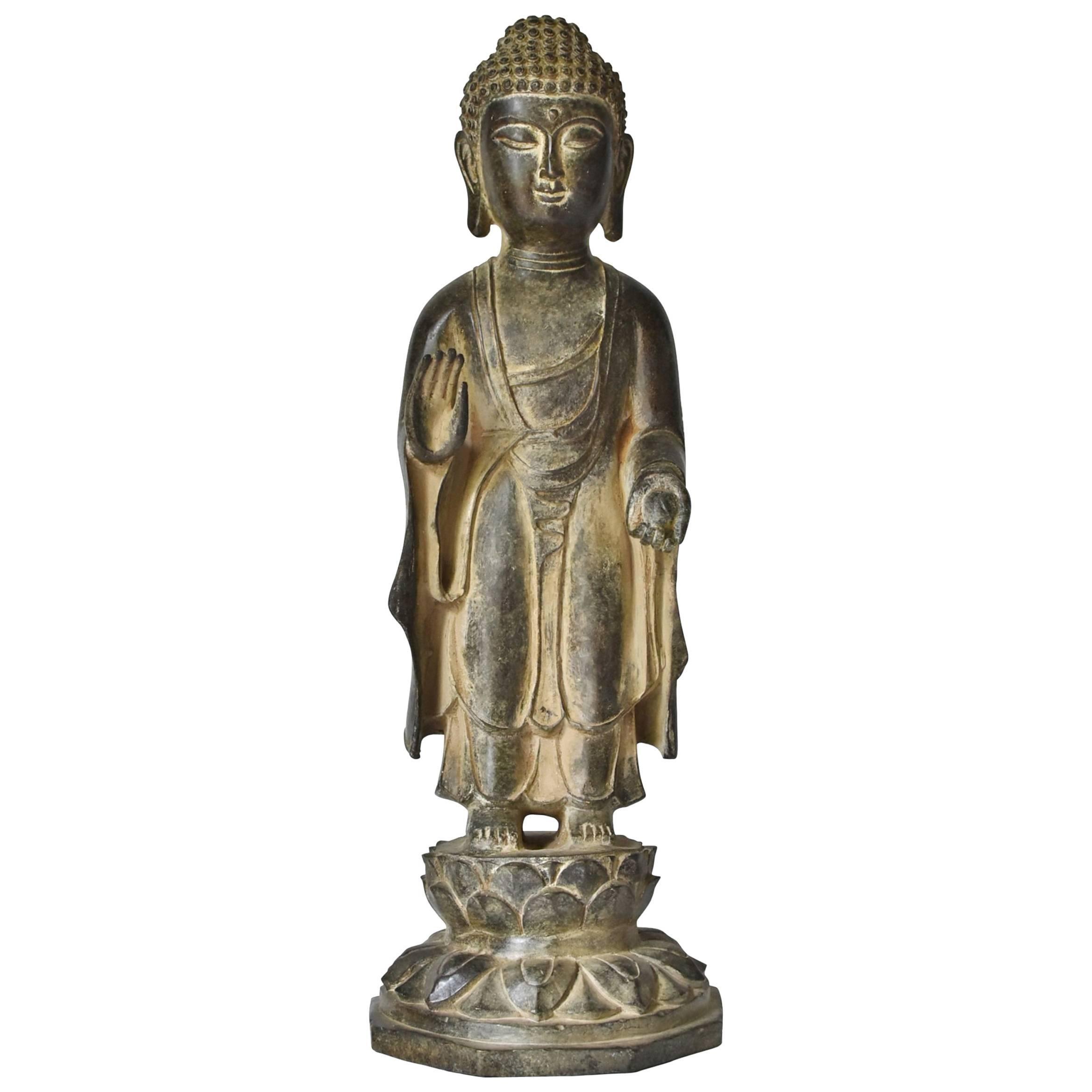 Bronze Standing Buddha Statue