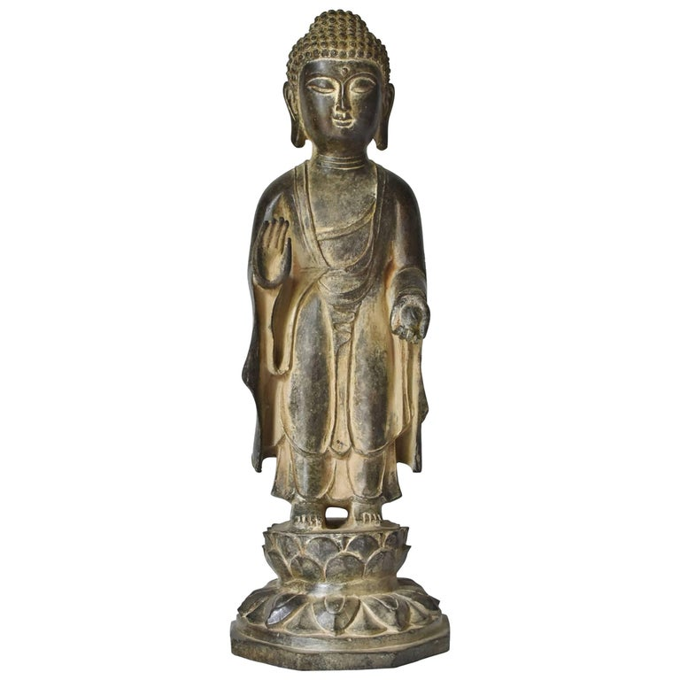 Bronze Standing Buddha Statue For Sale