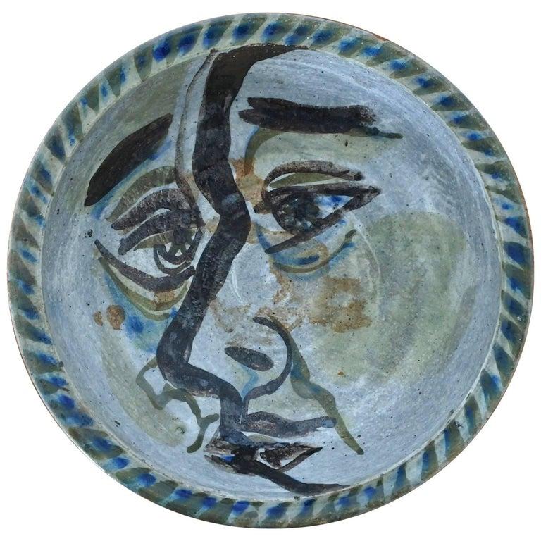 Midcentury Decorative Ceramic Dish by Phillip H. Paradise, California, 1950s