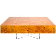 Bond Burled Mappa Wood Cocktail Table