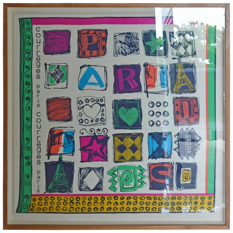 Andrianna Shamaris Silk Courreges Framed