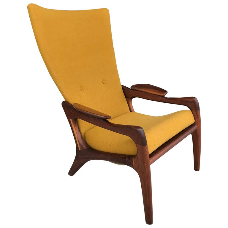 Adrian Pearsall High Back Wing Armchair At 1stdibs