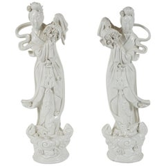 Pair of Blanc de Chine Figurines