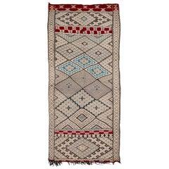 Exceptional Vintage Moroccan Kilim