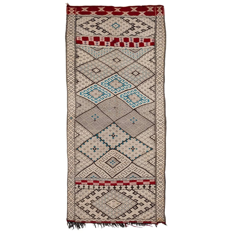 Exceptional Vintage Moroccan Kilim For Sale