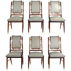 Set of Six Italian Midcentury Dining Chairs