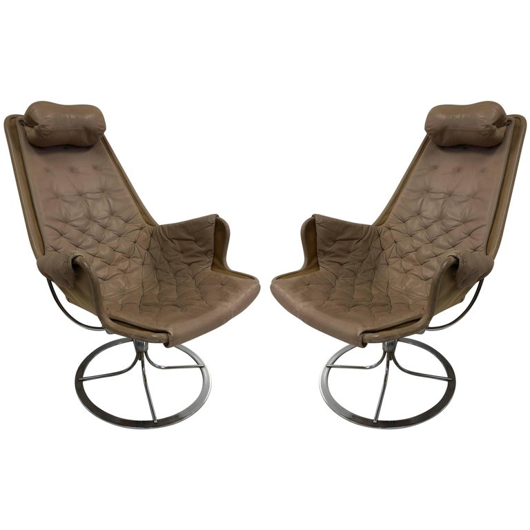 Pair of Bruno Mathsson Jetson Lounge Chairs for DUX