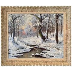 """The Frozen Stream"" Painting by Laszlo Neogrady"