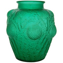 Rare to Find Green 'Domremy' Vase by R. Lalique