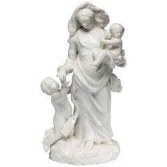 Figure 'Charity,' Bow Porcelain, circa 1751