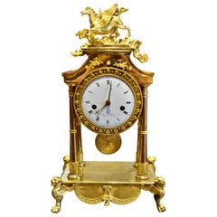 Period French Ormolu Director Pegasus Clock, circa 1795