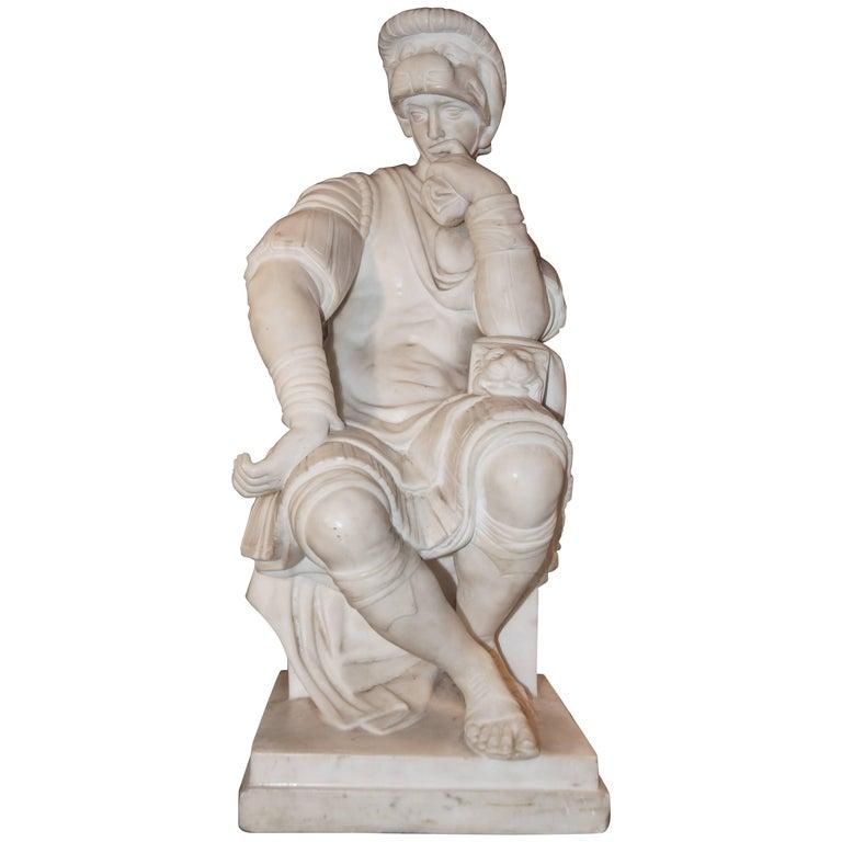 Marble Sculpture, Lorenzo de Medici For Sale