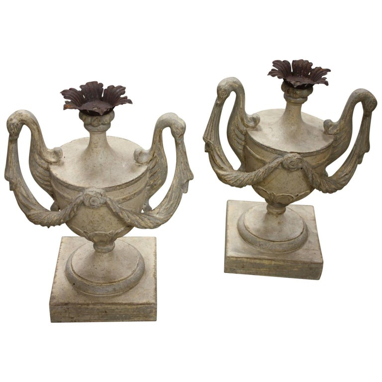 Pair of Italian Candlesticks Lamps