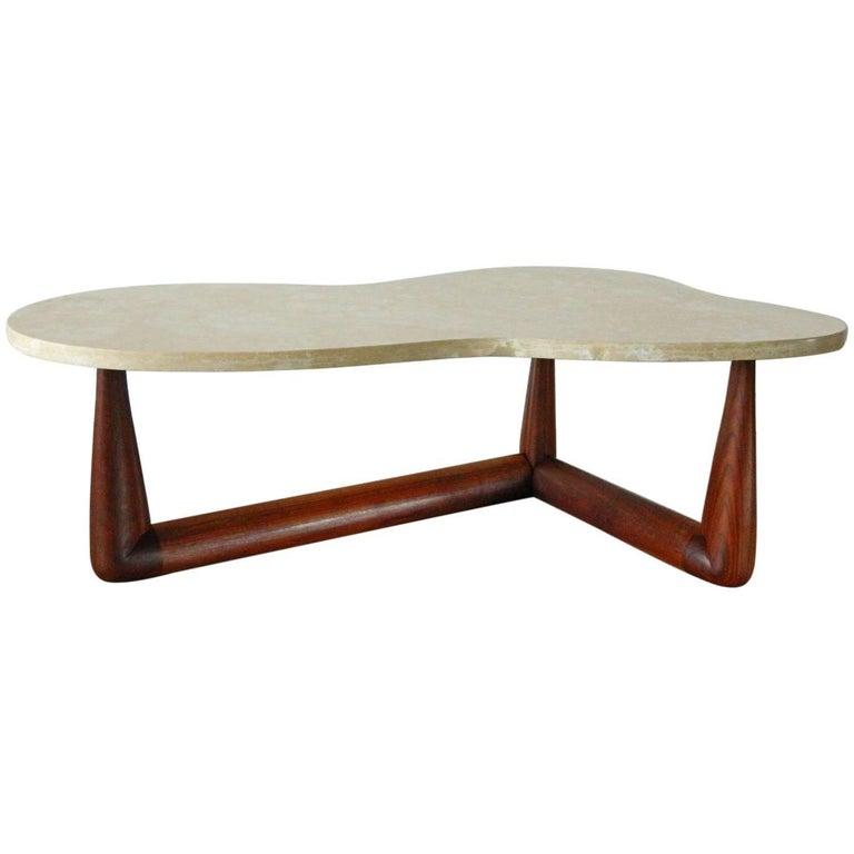 T. H. Robsjohn-Gibbings Biomorphic Marble Top Coffee Table
