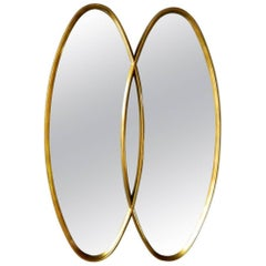 American Modern Interlocking Oval Mirrors in the Style of Labarge