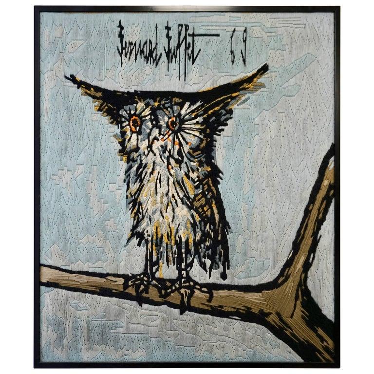 Bernard Buffet the Owl Tapestry, 1969 For Sale