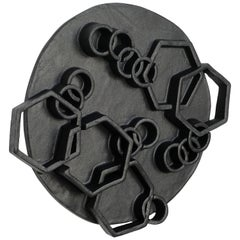 Black Ceramic Wall Hanging by Ben Medansky