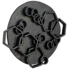 Black Ceramic Wall Hanging by Ben Medansky
