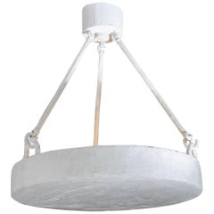 Round White Plaster Suspension