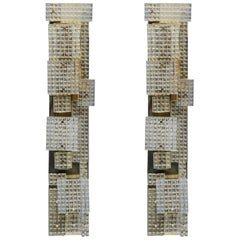 Pair of Glustin Luminaires Creation Tall Wall Sconces