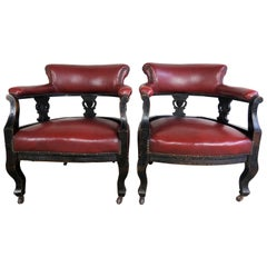 19th Century Victorian Antique Chairs, Pair
