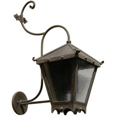 Strapped Iron Exterior Fixture