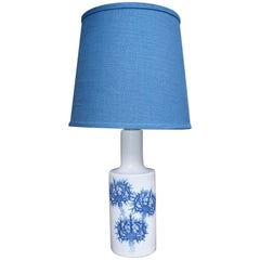Blue Ceramic Thistle Lamp by Fog & Mørup for Royal Copenhagen New Blue Shade