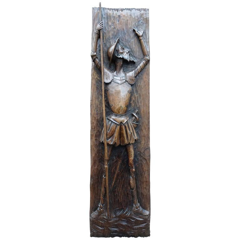 Don Quichotte Wooden Wall Sculpture For Sale at 1stdibs