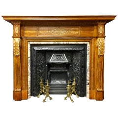 Victorian Pine and Gesso Fireplace Surround