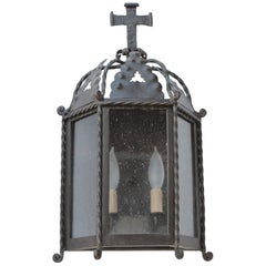 Exterior Iron Wall Mount with Cross