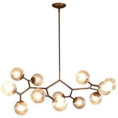 12-Light Vintage Glass Branching Chandelier
