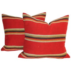 Mexican / American Early Wool Serape Pillows