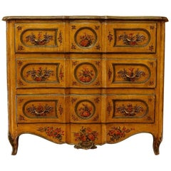 From Provence, Amazing French Louis XV Period Lacquered 'Arbalete' Commode