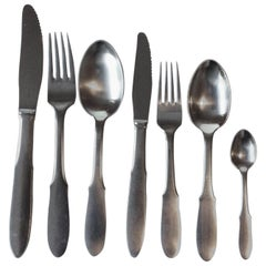 Georg Jensen Mitra Matte Stainless Flatware Set for Six Persons 42 Pieces