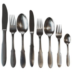 Georg Jensen Mitra Matte Stainless Flatware Set for Six Persons 48 Pieces