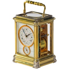 French Brass Gorge Cased Carriage Clock by Blackie, London