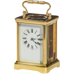 Brass Carriage Timepiece, Unsigned, 20th Century