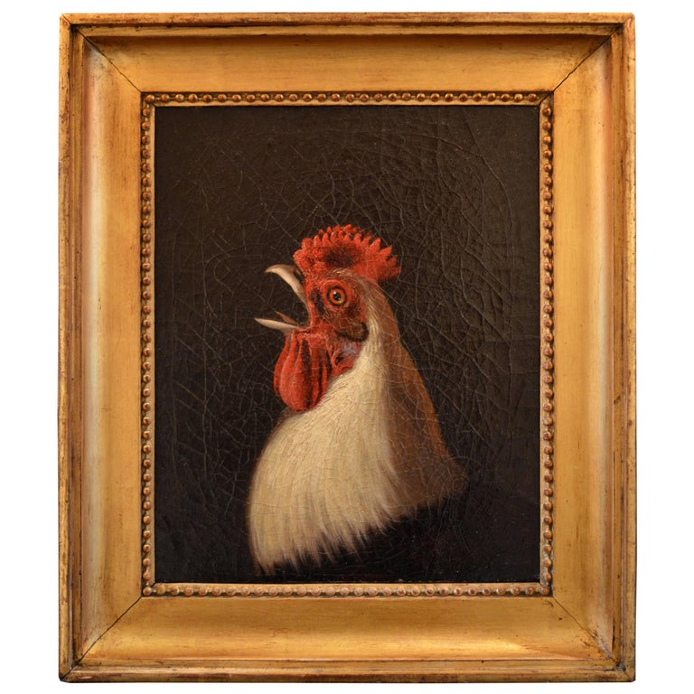 Oil Painting of an Ixworth Cockerel by George Cole