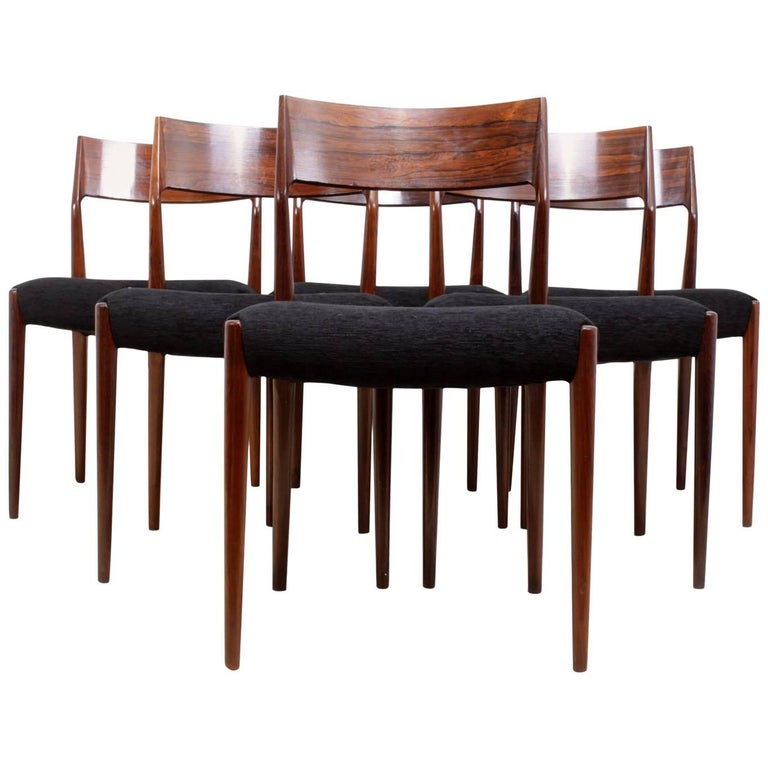 Midcentury Dining Chairs Set of Six