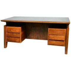Substantial Walnut Desk Attributed to Carlo di Carli