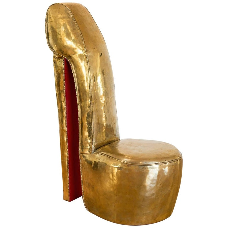 """Andreas Wargenbrant """"My Love to Louboutin"""" Sculpture in Gilded Bronze No. 3/8 For Sale"""