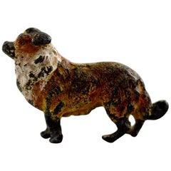 Vienna Bronze, Standing Dog, Bronze Figure of High Quality